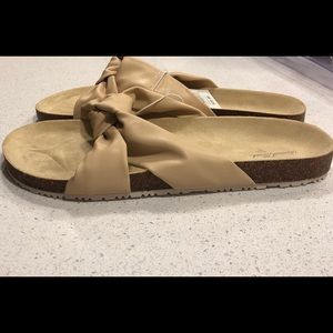 NEW cream Junie Knotted Sandals Universal Thread
